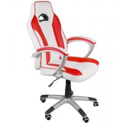 Kancelářská židle Caro bílá a červená