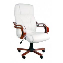 Fotel biurowy LUX biały z masażem