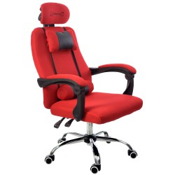 OFFICE ARMCHAIR RCA BLACK & RED