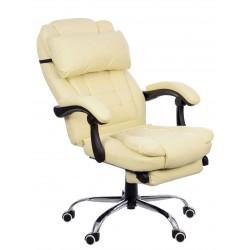 Kancelářská židle  s podložkou pro nohy GIOSEDIO černá s bílým závitem FBK004W.