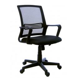 Prodyšná kancelářská židle FBX004, černá