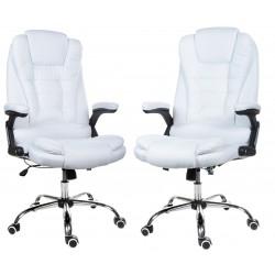 Kancelářská židle GIOSEDIO bílá látka, model FBJ002