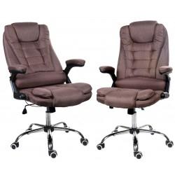 Kancelářská židle GIOSEDIO hnědý látka, model FBJ003
