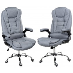 Kancelářská židle GIOSEDIO šedá látka, model FBJ011