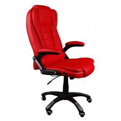 Kancelářské židle s masáží BRUNO červená
