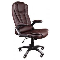 Kancelářské židle s masáží BRUNO hnědý
