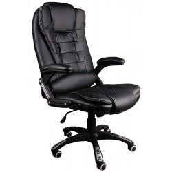 Fotel biurowy BRUNO czarny (biała nić)